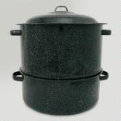 Black Graniteware 3-Pc. Lobster Pot, 19 Qt.