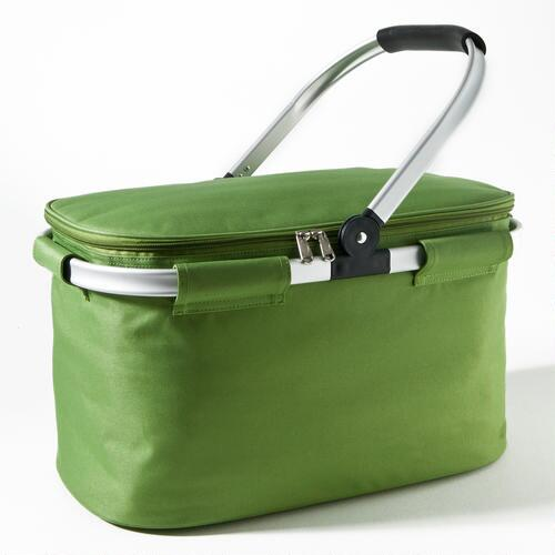 Green Insulated Collapsible Tote