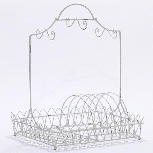 White Wire Dish Rack