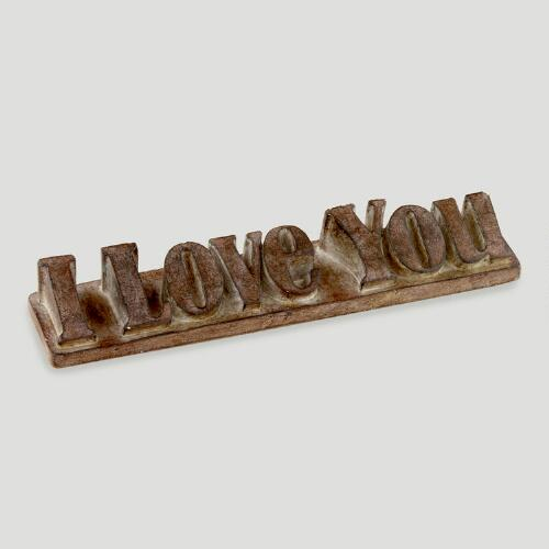 """I Love You"" Word Block"