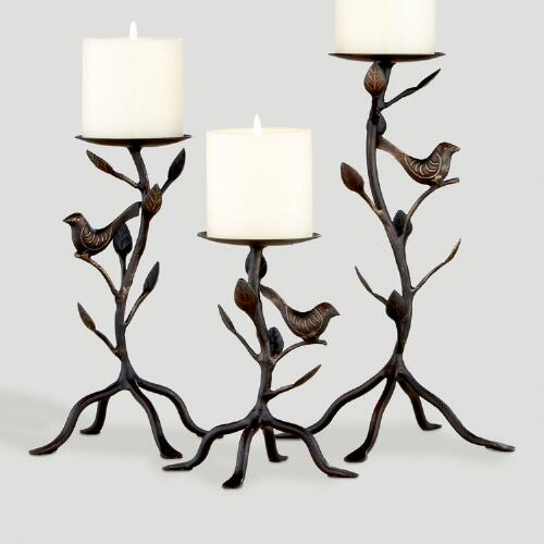 Garuda Bird Pillar Candle Holder