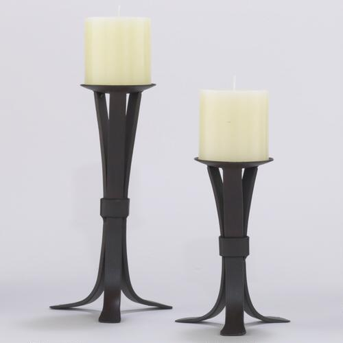 Iron Pillar Candleholders