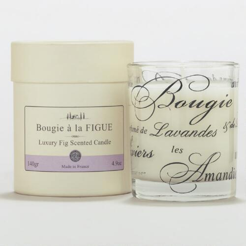 Fig Scented Boxed French Candle