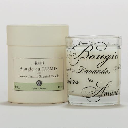 Jasmine Scented Boxed French Candle