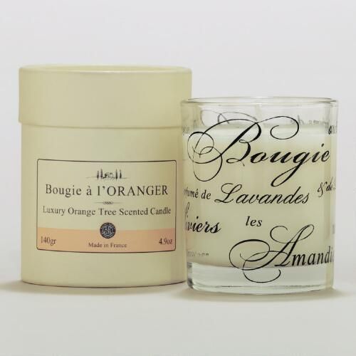 Orange Tree Scented Boxed French Candle
