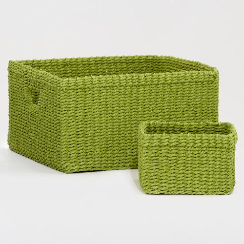Spinach Green Madison Baskets