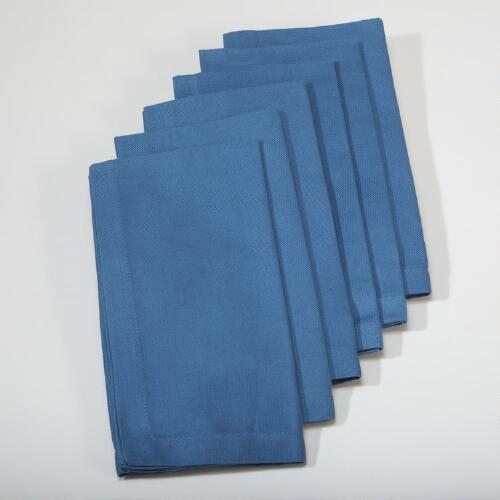 Bay Blue Buffet Napkins, Set of 6