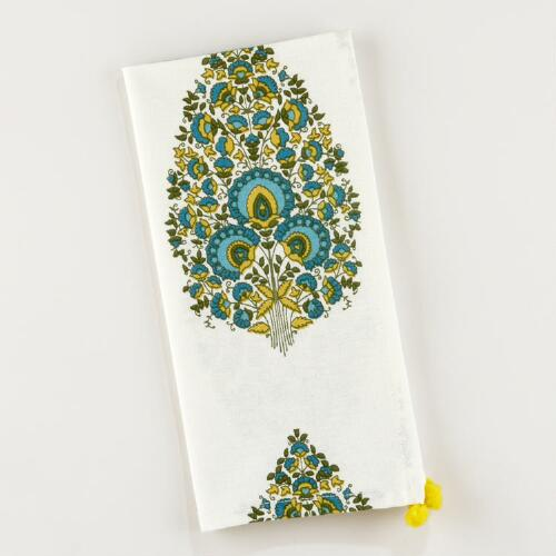 Peacock Bhuti Napkins, Set of 4