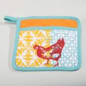 Funky Chicken Potholders, Set of 2