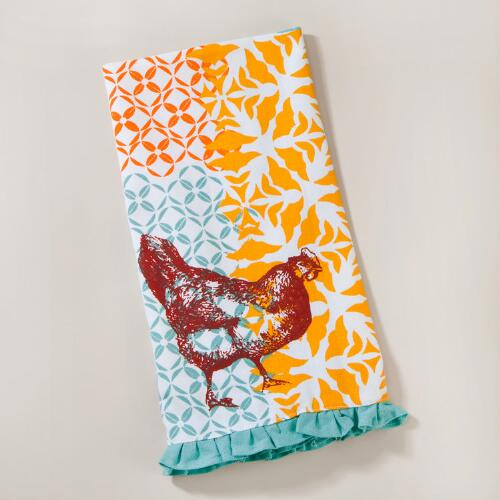 Funky Chicken Kitchen Towels, Set of 2