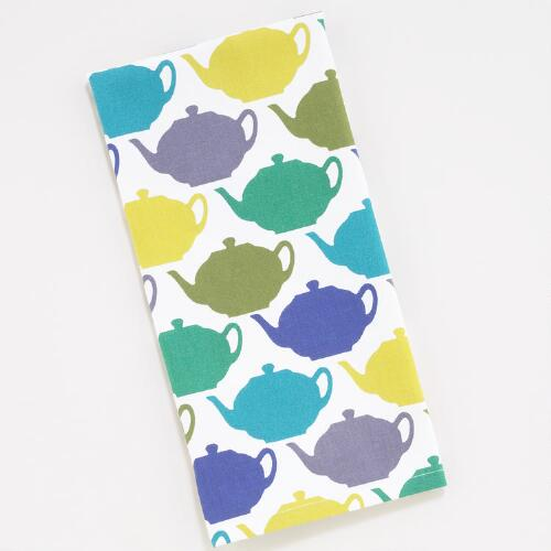 Seaside Teapot Kitchen Towels, Set of 2