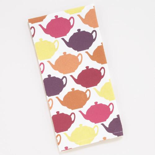 Dessert Teapot Kitchen Towels, Set of 2