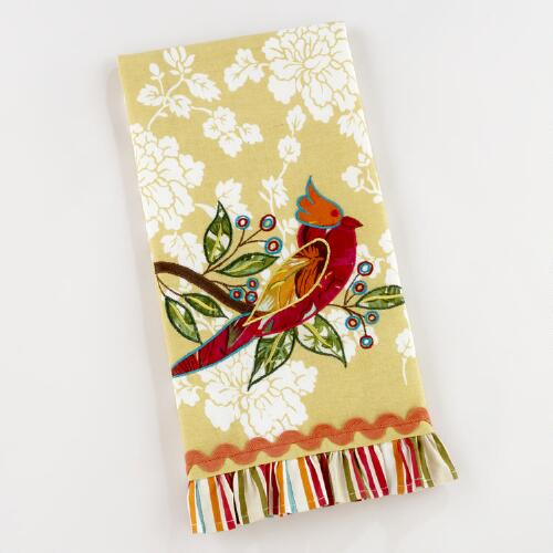 Appliqué Cockatiel Tea Towel