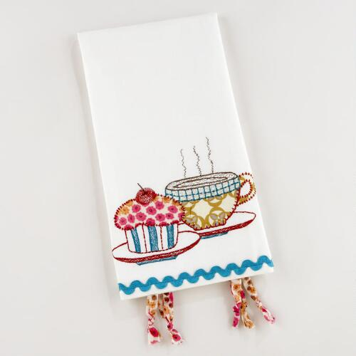 Appliqué Cupcake Tea Towel