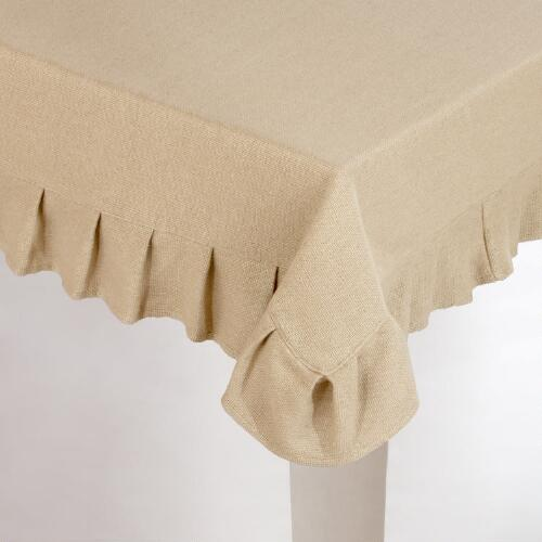 Natural Sorrento Tablecloth
