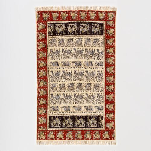 Kalamkari Animal Rug