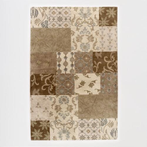 Tufted Floral Patchwork Rug