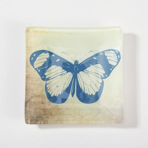 Glass Butterfly Soap Dish