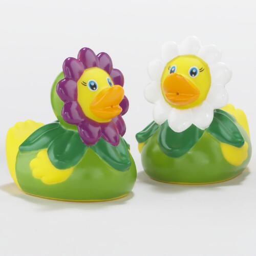 Daisy Petal Rubber Ducks, Set of 2