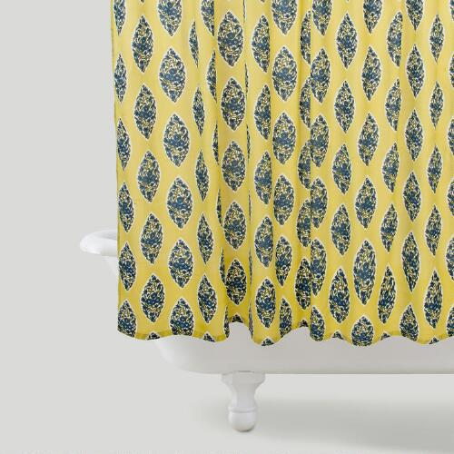 Lime Paisley Bhuti Shower Curtain