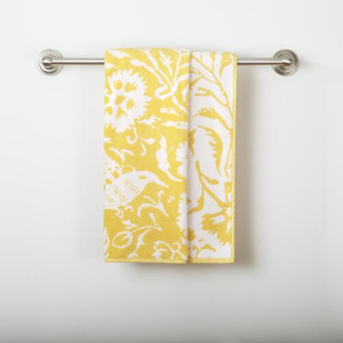 Yellow/White Parnavi Bath Towel