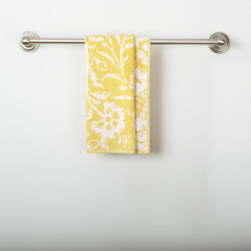 Yellow/White Parnavi Hand Towel