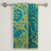 Fern/Blue Parnavi Bath Towel