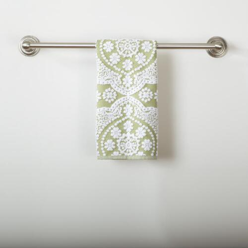 Fern Mosaic Sculpted Hand Towel