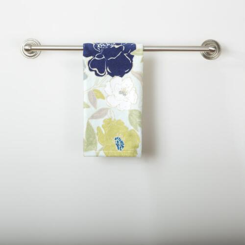Painterly Floral Printed Velour Hand Towel