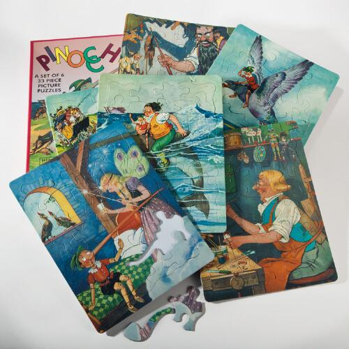 Retro Pinocchio Puzzles, Set of 6