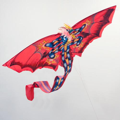 Red Balinese Dragon Kite