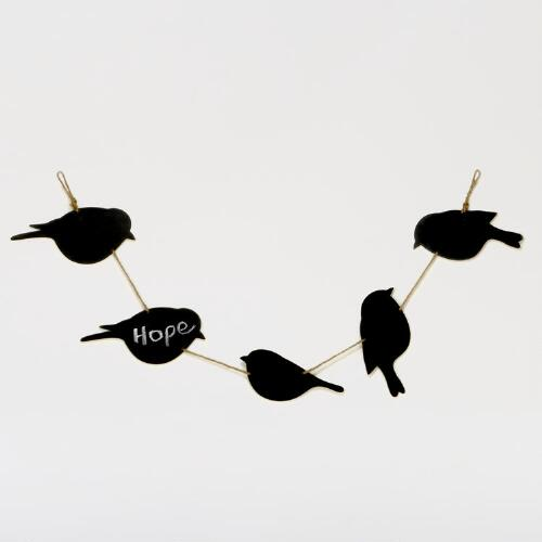 Chalkboard Birds on a String