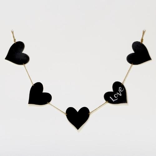 Chalkboard Hearts on a String