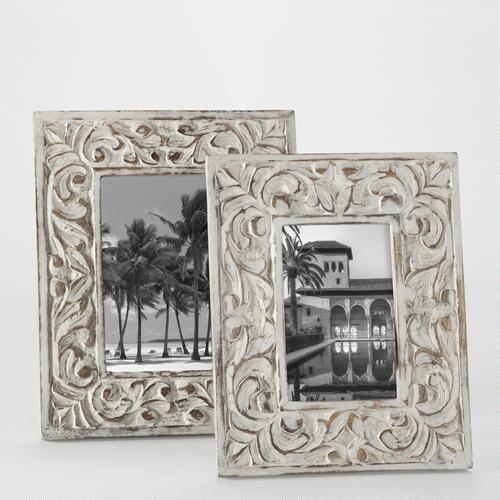 Whitewash Elizabeth Carved Frames