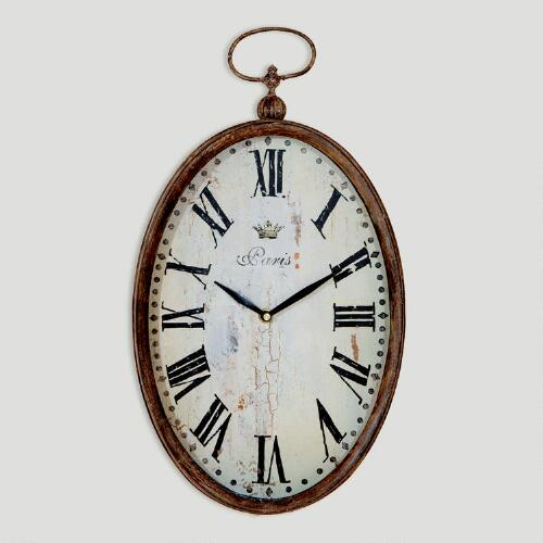 Chantal Oval Vertical Iron Clock
