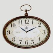 Chantal Oval Horizontal Iron Clock