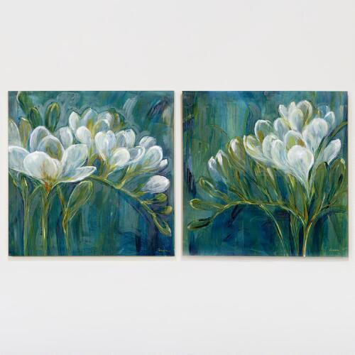 Freesia Blue I/II, Set of 2