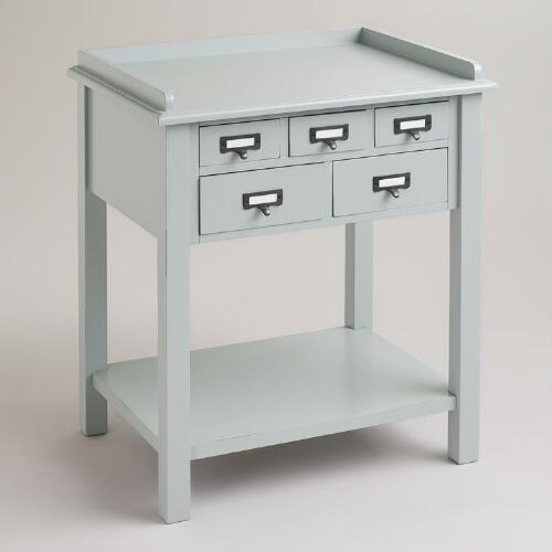Gray 5-Drawer Preston Table