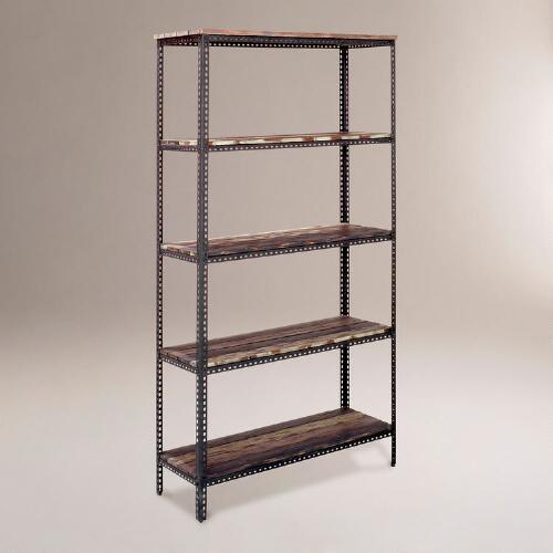4-Shelf Industrial Metal Shelf