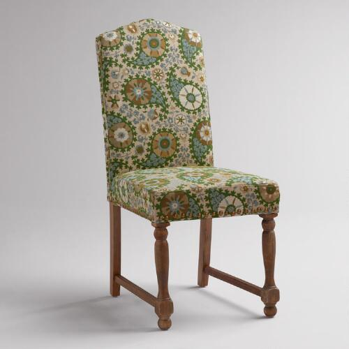 Green Paisley Walter Chair