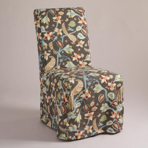 Steel Birds Long Anna Chair Slipcover