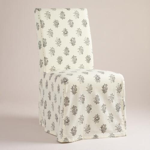 Block Print Long Anna Chair Slipcover