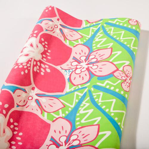 Large Pink Flowers Handmade Gift Wrap