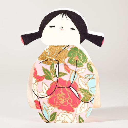 Kokeshi Doll Pink Bloomers Gift Bag