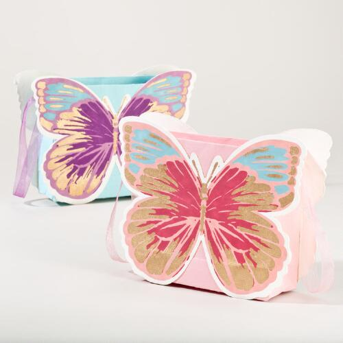 Butterfly Mini Gift Bags, Set of 2