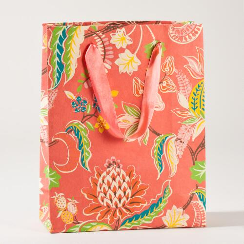 Coral Indonesian Fruit Large Gift Bag