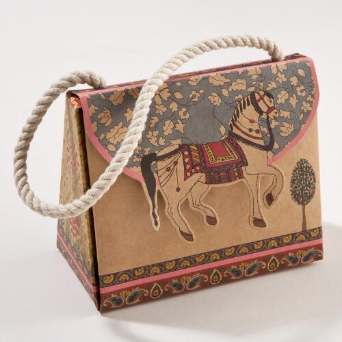 Horse Kraft Purse Boxes, Set of 2