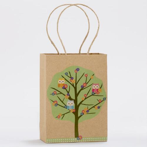 Four Owls Small Kraft Gift Bags, Set of 2