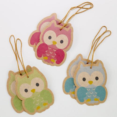 Owl Gift Tags, Set of 2