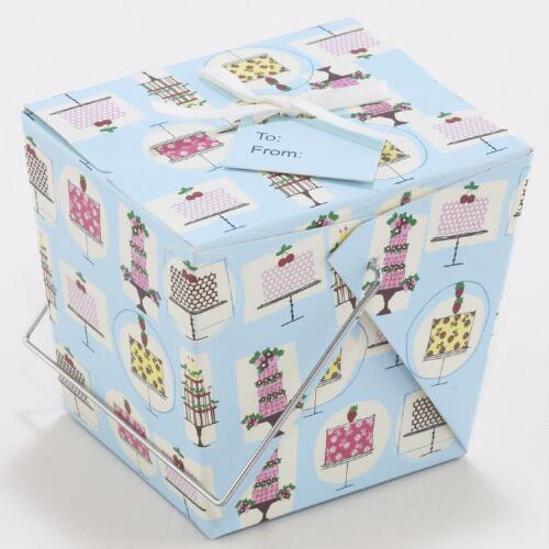 Mini Birthday Cake Take Out Boxes, Set of 4